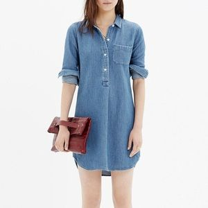 Madewell Chambray Popover Shirtdress